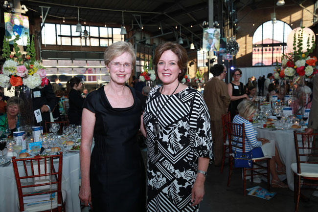 Mariam C. Noland, President of the Community Foundation for Southeast Michigan and the 2016 Great Hearts Honoree with CEO of Starfish Family Services, Ann Kalass.